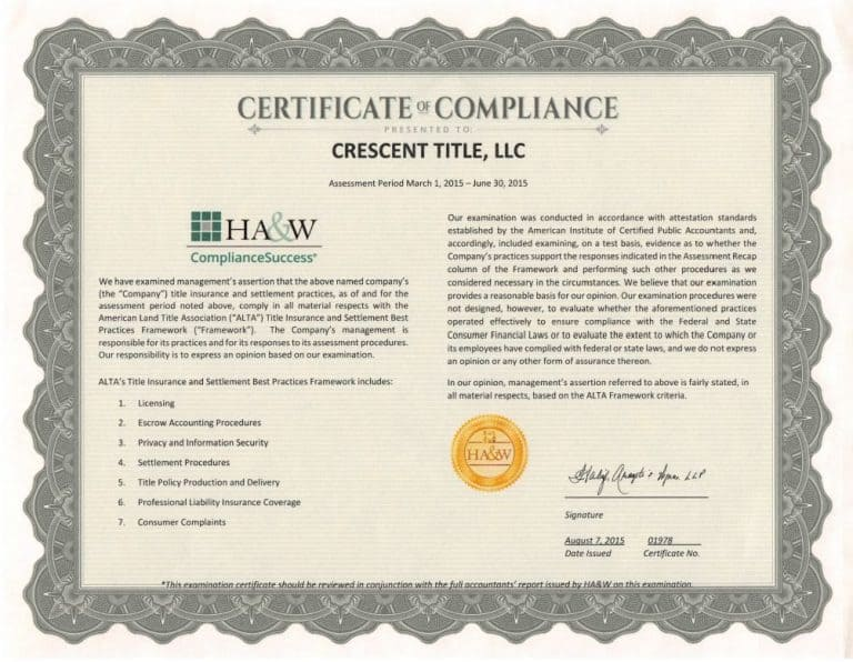 practices certification alta compliance trid